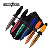 Cheap 6 Pc 6 Color Throwing Knife set & Leg Holster