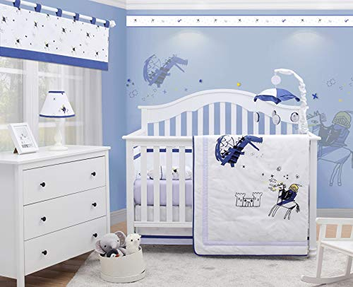 OptimaBaby Prince Charming Knight Dragon 6 Piece Baby Nursery Crib Bedding ()
