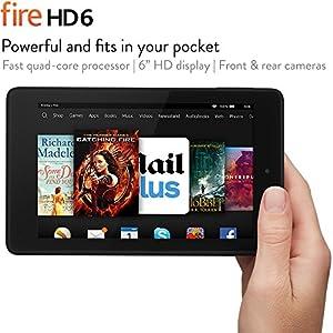 "Fire HD 6, 6"" HD Display, Wi-Fi, 8 GB (Black) - Includes Special Offers"