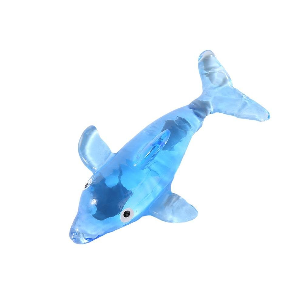 Fun Toys, Party Favors, Stretchy Dolphin Kids Party Bag Fillers Stretch Novelty Gift Boy Girls Toy for Sensory Kids (Blue)
