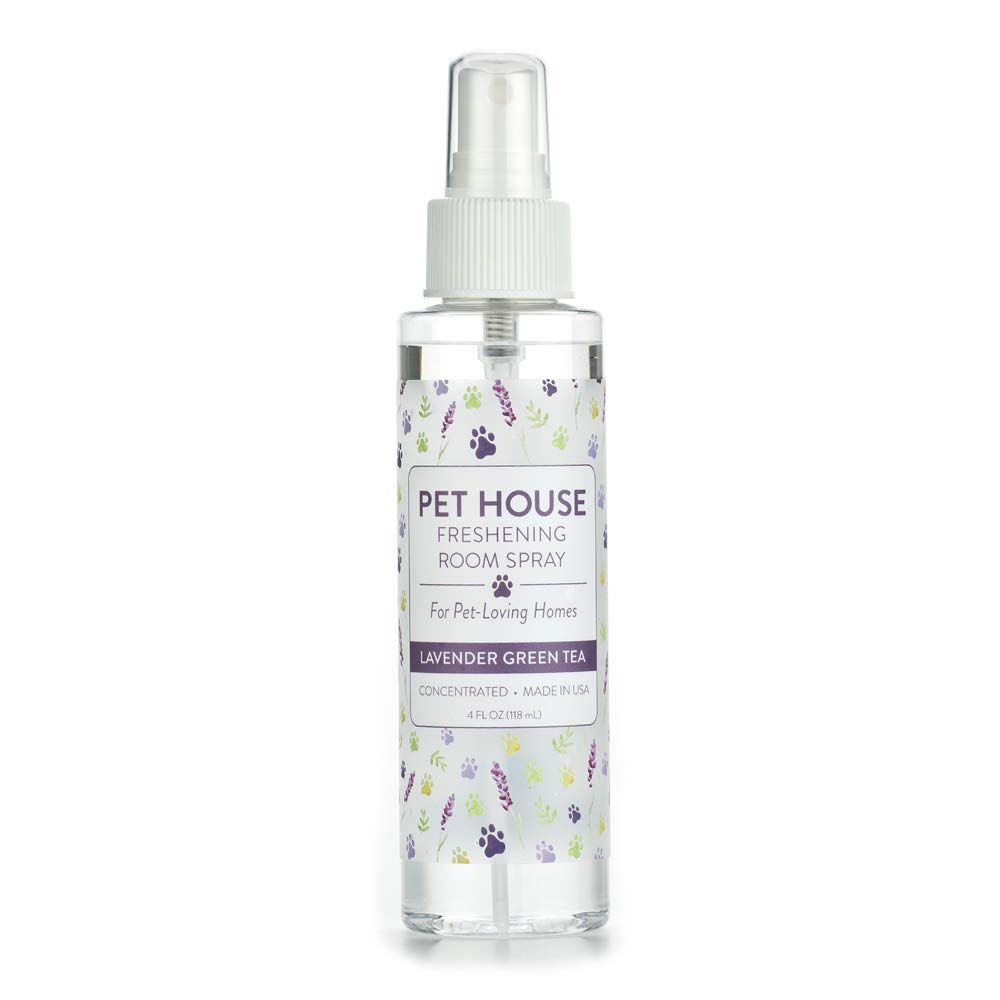 One Fur All Pet House Freshening Room Spray – Lavender Green Tea - Concentrated Air Freshening Spray Neutralizes Pet Odor - Non-Toxic & Allergen Free Air Freshener – Effective, Fast-Acting – 4 oz