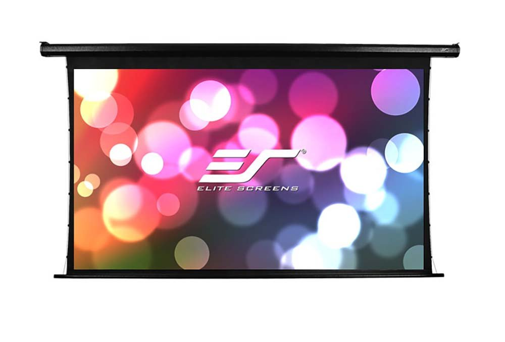 Elite Screens Spectrum Tab-Tension, 125-inch 16:9, 4K Tensioned Electric Motorized Projection Projector Screen, Electric125HT by Elite Screens