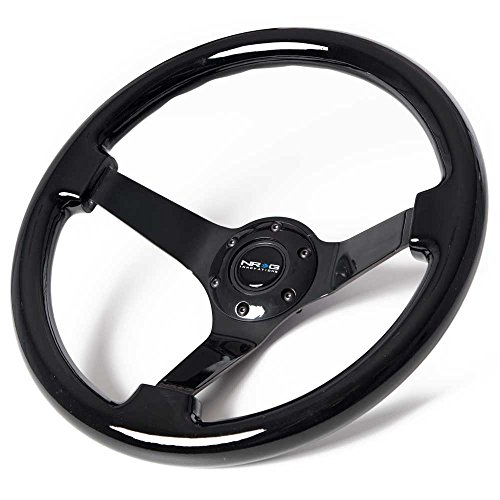 NRG Innovations ST-036BK-BK Classic Black Wood Grain Wheel (3