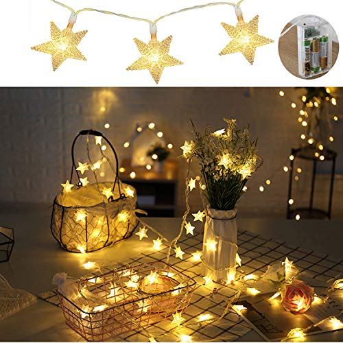 star lights string decorations80led christmas decor 33ft waterproof fairy twinkle small light for bedroomindooroutdoorweddingparty battery powered by