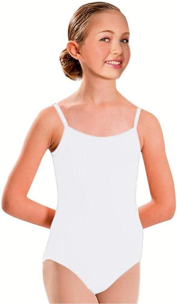 Furein Maillot de Danse Ballet Gym Leotardo Body Classique /élastique pour Fille sans Manches col Rond