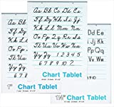 School Smart Spiral Bound Ruled and Unruled Chart Tablet Assortment - 24 in x 32 in - Pack of 12