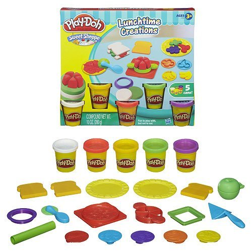 Lunch Time Creations Board Game Set with 5 Cans & More Tools & Molds (Play Dough Lunchtime compare prices)