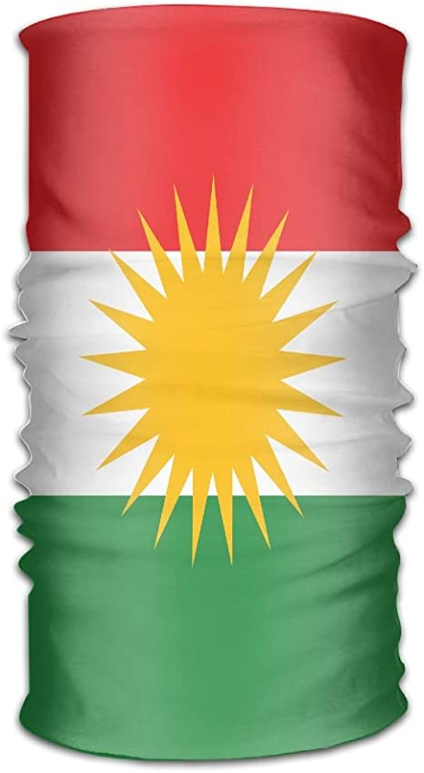 Not Applicable Bandana Neck Gaiters,Kurdistan Flag Map Unmatched for Football,25x30cm
