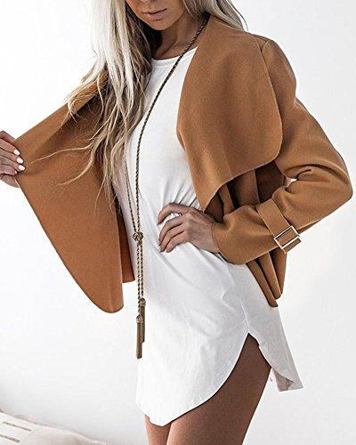 Camel Classico Giacche Sottile Risvolto Moda Giacca Donne Di Cappotti Coats Casuale Cappotto qUPEdn