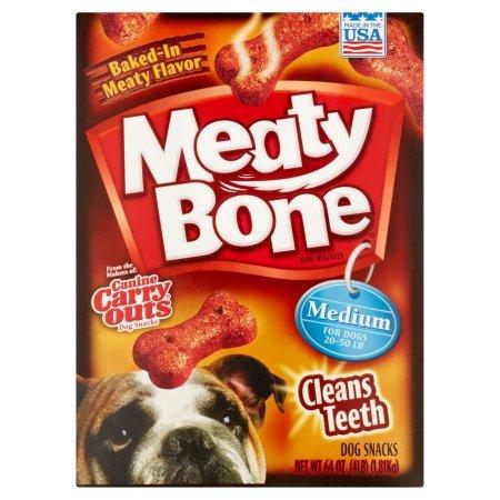 Meaty Bone Medium Dog Snacks, 64 oz, Pack of 3 Boxes Total