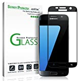 Image of Galaxy S7 Screen Protector Glass (Full Screen Coverage), amFilm Bye-Bye-Bubble Samsung Galaxy S7 Tempered Glass Screen Protector [NOT S7 Edge] Screen Protector 2016
