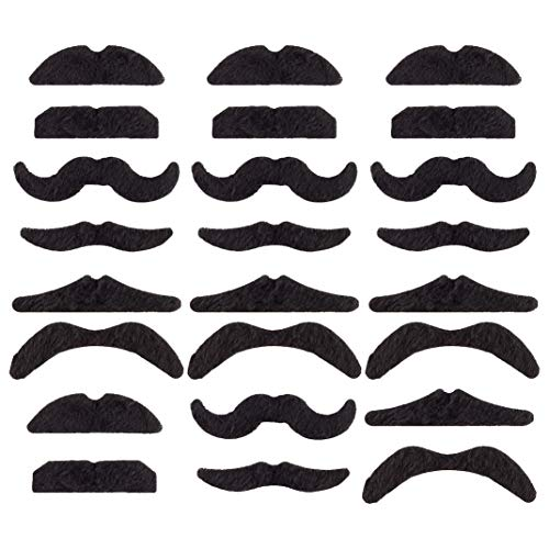 U_star 48 PCS Fake Mustaches,Novelty Mustache Party Supplies, Self Adhesive Mustache for Masquerade Party Performance Black