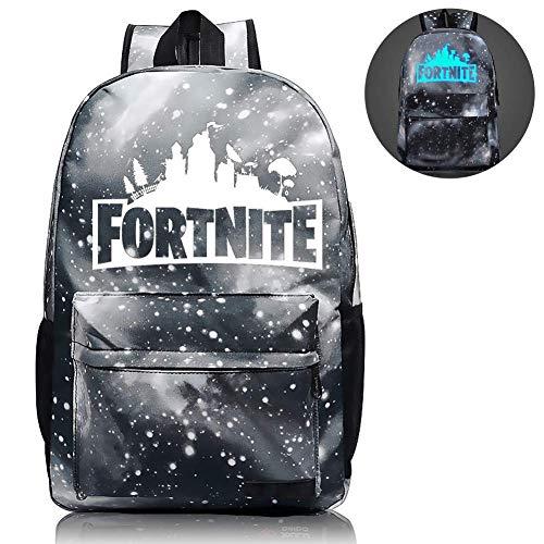 School Backpack Laptop Backpack, Cool Fortnite Backpack Night Luminous Boys&Girls Backpack for Travel, Shopping, School, Student(Black) by Vaughenda