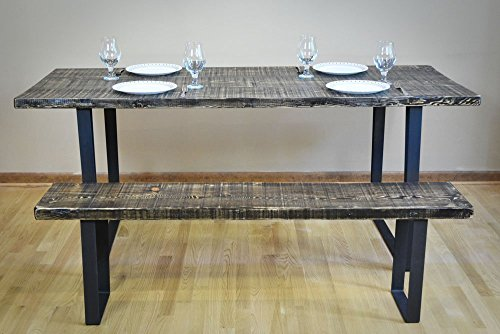Handmade Reclaimed Wood Dining Table | Salvaged Barnwood | 1.65 Inches Thick | 30 Inches Wide | FREE SHIPPING -