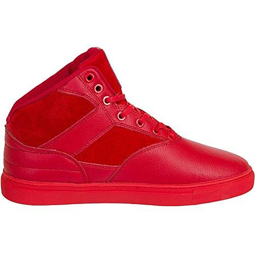 Djinns - Zapatillas de piel para hombre Rojo
