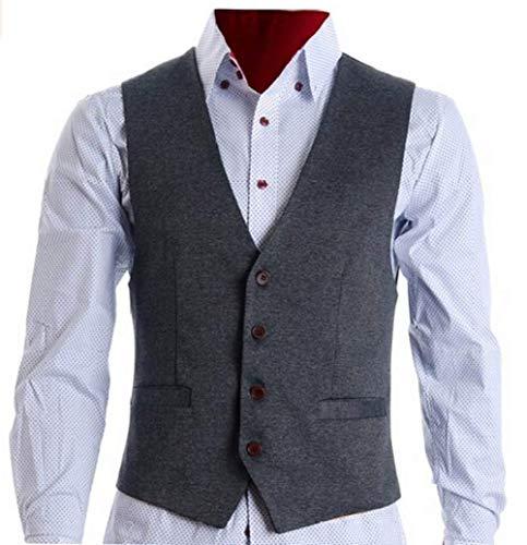 Vest Pour Casual Tuxedo Blazer Élégant Grau Business Fit Jeune Costume Gilet Skinny Hommes Slim Solennel wSqpXpH