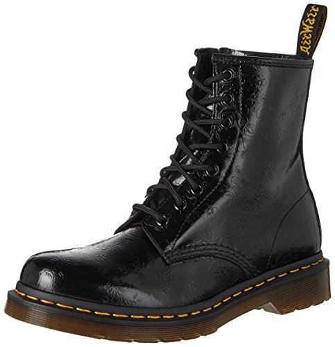 Dr. Martens 1460 Originals Eight-Eye Lace-Up Boot,Black QQ Flowers,4 UK / 5 US Mens / 6 US Womens