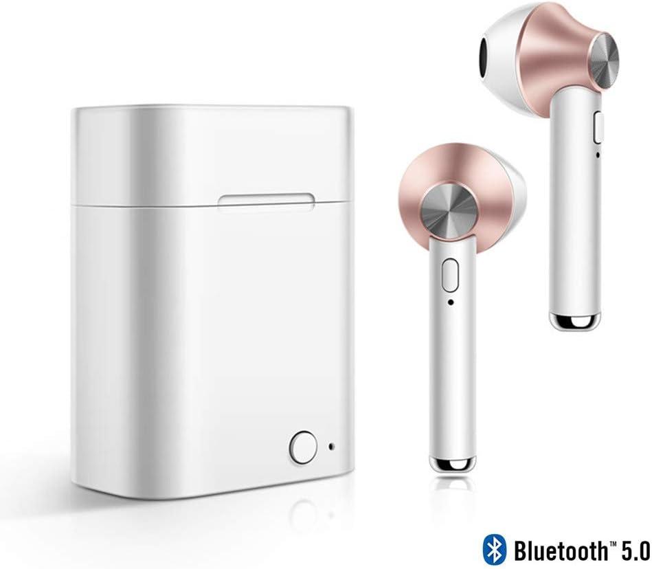 MUSSON Auriculares Inalambricos Bluetooth, Auriculares Bluetooth Deportivos v5.0 con Batería 500mAh Hi-Fi Estéreo écouteur con Micrófono para Android iOS Samsung iPhone Huawei Sony HTC CE30