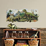 RoomMates RMK3053TB Dinosaurs Giant Scene Peel and Stick Wall Graphic