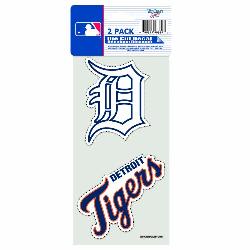 Detroit Tigers Decals (MLB Detroit Tigers 2-Piece Die-Cut Decal, 4