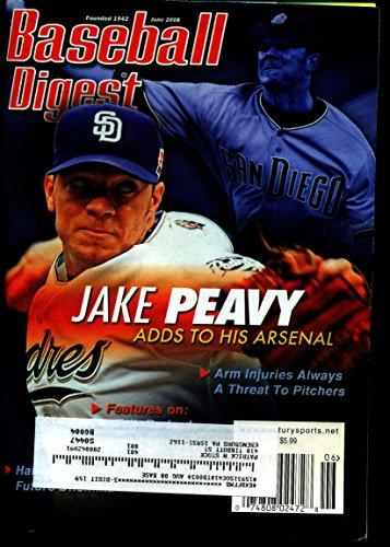 BASEBALL DIGEST JUNE 2008 JAKE PEAVY PADRES EX