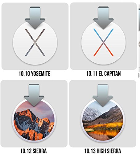 Macintosh OS X Installer - HGH SIERRA (Mac OS X.13), SIERRA (Mac OS X.12), EL CAPITAN (Mac OS X.11) or OS YOSEMITE (Mac OS X.10) Quad Bootable USB Flash Drive