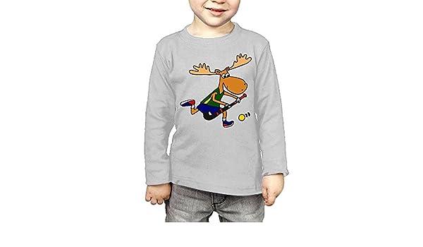 CERTONGCXTS Toddler Moose Playing Field Hockey ComfortSoft Long Sleeve Shirt