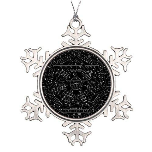 Personalised Christmas Tree Decoration Black Complete Sigillum Dei Aemeth Pin Tree Decorating Spirituality