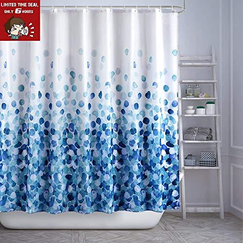 ARICHOMY Shower Curtain Set Bathroom Fabric Curtains Bath Waterproof Colorful Funny with Standard Size 72 by 72 (BlueCloud) (Shower Curtains And Bath Sets)