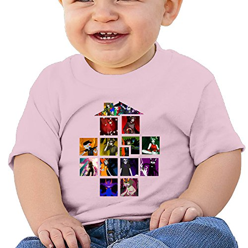 Elnory Homestuck Comic Cartoon House Game Baby Cool Cloth 24 Months Pink