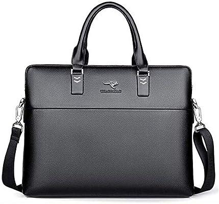 TYZXR Estuche para Laptop de 14 Pulgadas, maletín Resistente al Agua, Bolso de Mensajero Extensible con Correa, Estuche portátil para Hombres/Mujeres de Negocios (Color: Negro): Amazon.es: Hogar