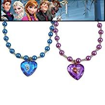Disney Frozen Anna and Elsa Pearl Necklace Set