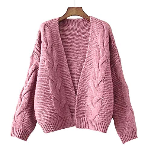 Tootu Sleevel Long Casual Coat Womens Sweater Sweater Pink gnqR5grxt