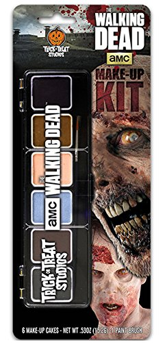 Trick or Treat Studios Men's Walking Dead-Makeup Kit, Multi, One Size ()
