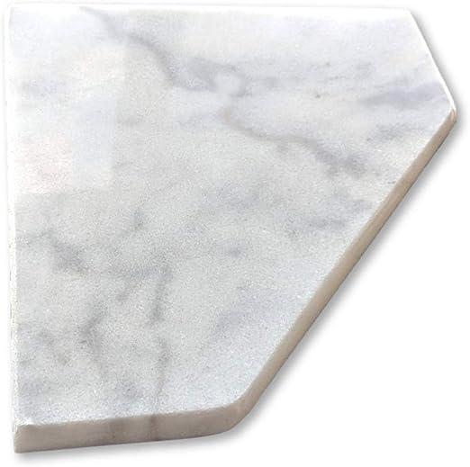 "Stone Bathroom Caddy Soap Dish Bianco Ibiza XD 8/"" Marble Shower Corner Shelf"