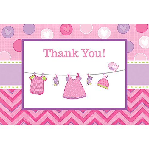 delightful-shower-with-love-girl-postcard-thank-you-cards-baby-shower-party-cards-supplies4-x-6-pack