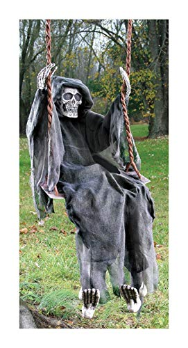 (Life Size 5 FT Hanging Swinging Skeleton Dead Outdoor Halloween Decor Prop by Tru)