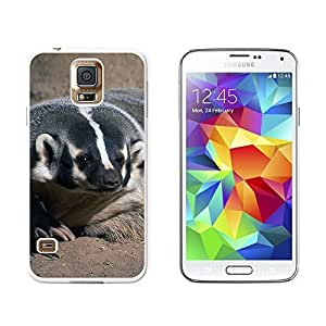 New Style Badger - Snap On Hard Protective Case for Samsung Galaxy S5 - White