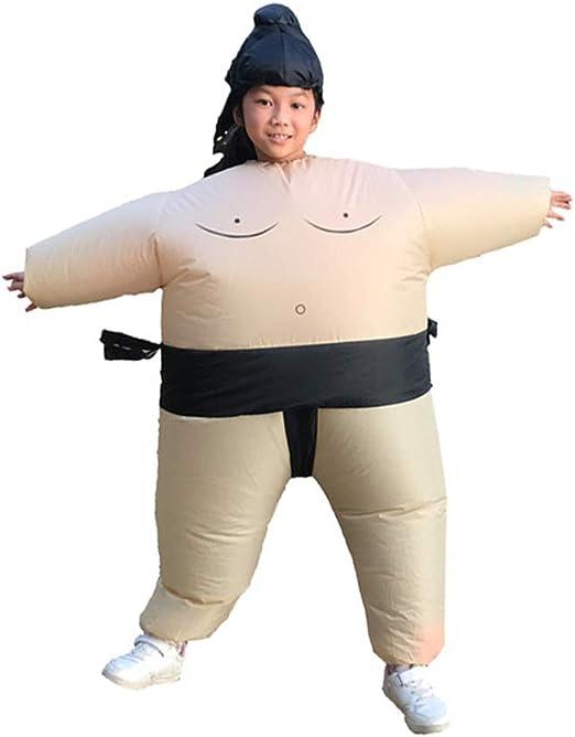 YBBDHD Hombres Mujeres Inflable Sumo Cosplay Disfraz Lucha Libre ...