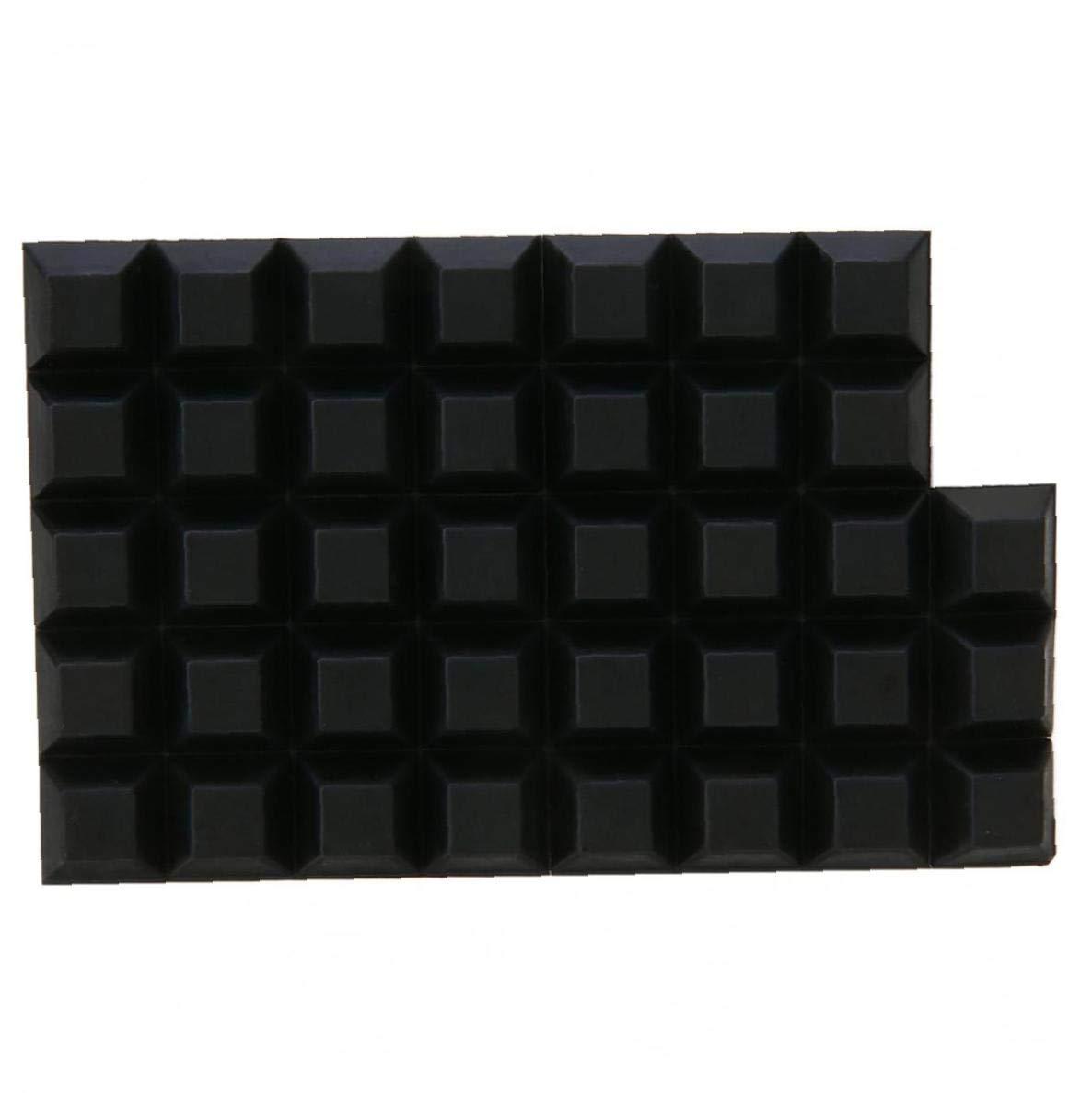 Asien 40pcs Negro Auto-Adhesivo de Goma de Poliuretano Tope de retenci/ón Antideslizantes Puerta del Armario Protectores para pies de Goma Pad Principal Herramientas