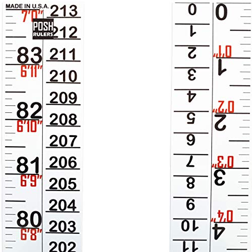 Growth Chart. Height Indicator Tape Ruler. Height Measure. Made in USA. (Height Wall Chart Adult)