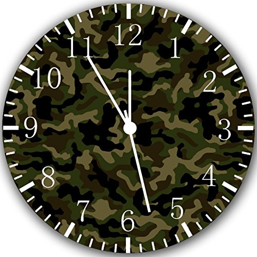 Military Camouflage Frameless Borderless Wall Clock Y52 Nice For Gift or Room Wall Decor