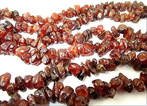 HiJet Hessonite Chakra Chips Mala/Strands Negative Ions Provider Chakra Stretch Balancing Positive Energy Aura Gift Easter Metaphysical Peace Divine Spiritual Love Harmony Luck