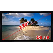 "Antra 120"" 16:9 Fixed Projector Projection Screen Matte White"