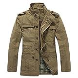 Najia Symbol Men's Casual Cotton Coats QZ-096 (US X-Small/ Asian Medium, Khaki-02)