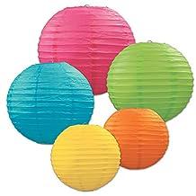 Beistle Paper Lantern Assortment, Assorted Colors