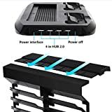 FastSnail Xbox One S Vertical Stand Cooling Fan with Game Discs Storage Tower Mounts & Dualshock Charger, Controller Charging Station for Xbox One S