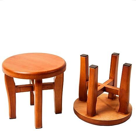 Super Amazon Com Golden Sun Step Stool Round Solid Oak Wood Andrewgaddart Wooden Chair Designs For Living Room Andrewgaddartcom