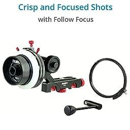 FILMCITY Shoulder Rig Kit for Blackmagic Cinema Camera / Production Camera 4k (FC-05) | BMCC Cage Rig Matte box Follow Focus Accessories