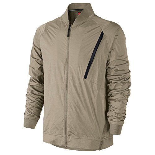 NIKE Men's Tech Hypermesh Varsity Jacket XXX-Large Khaki Tan Black by NIKE